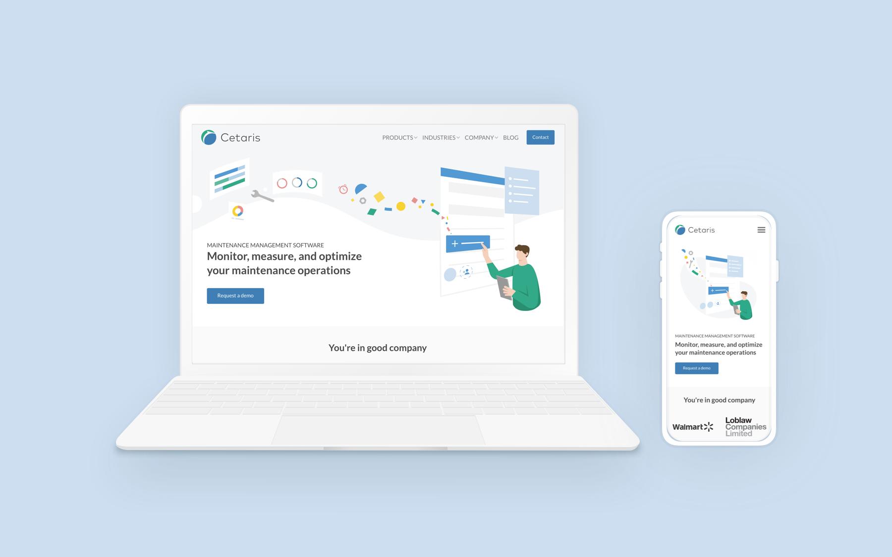 Re-designing Cetaris.com