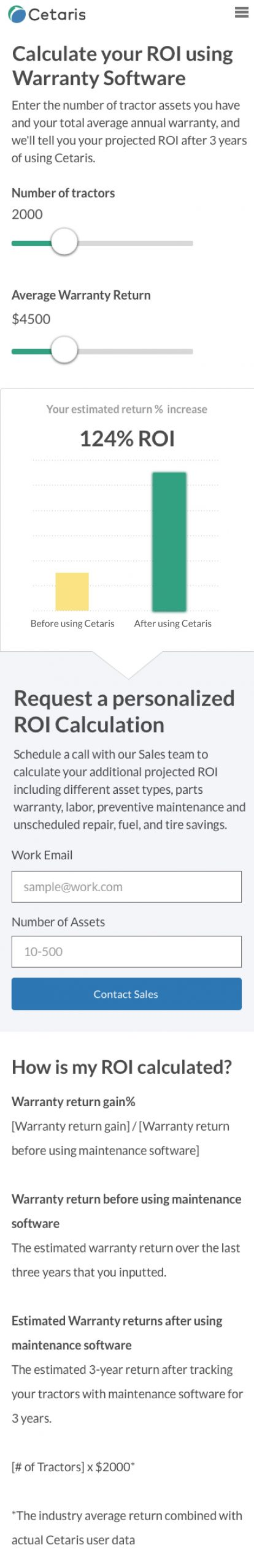 ROI Calculator mobile